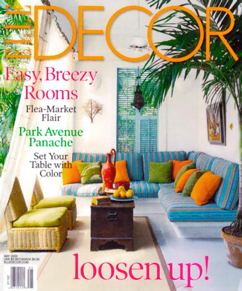 Michael Gainey Elle Decor Magazine Cover