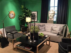Emerald and green living room, interior design trends, MGSD