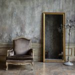 Room in distress with chair mirror and lamp, MGSD