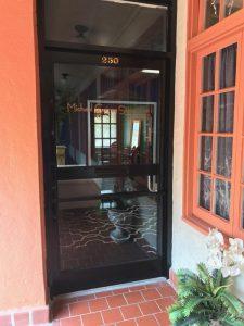 MGSD Studio Entrance Door, interior design in Cocoa, Florida