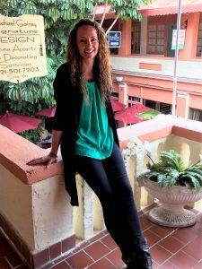 Victoria Bellucci-Kellam outside MGSD interior design studio in Cocoa, Florida