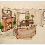 sketch of interior design in Cocoa, Florida, interior designer