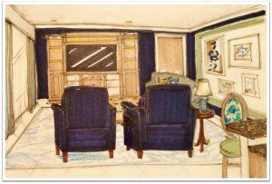sketch of interior design in Cocoa, Florida