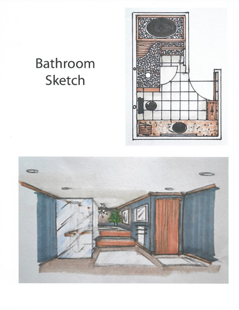 sketch of interior design in cocoa florida