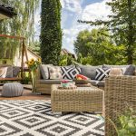Grey and white outdoor space, interior design outside, Michael Gainey Signature Designs, interior design in Cocoa, Florida