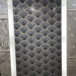 Gray Tile Wall in Bathroom, Michael Gainey Signature Design