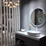 Gray-scale bathroom and vanity, Michael Gainey Signature Designs