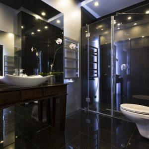 Luxury black bathroom, interior design trends for 2019, MGSD