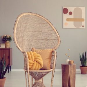 Modernist chair and pillow, interior design trends for 2019, MGSD