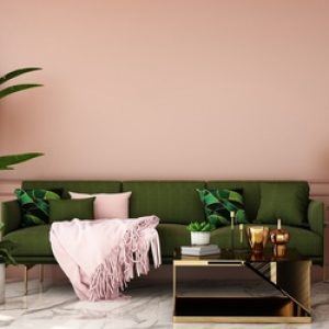 pink and green living room with modern furniture, 2019 Interior Design Trends, MGSD