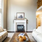 Neutral living room with high ceilings; interior design tips; MGSD