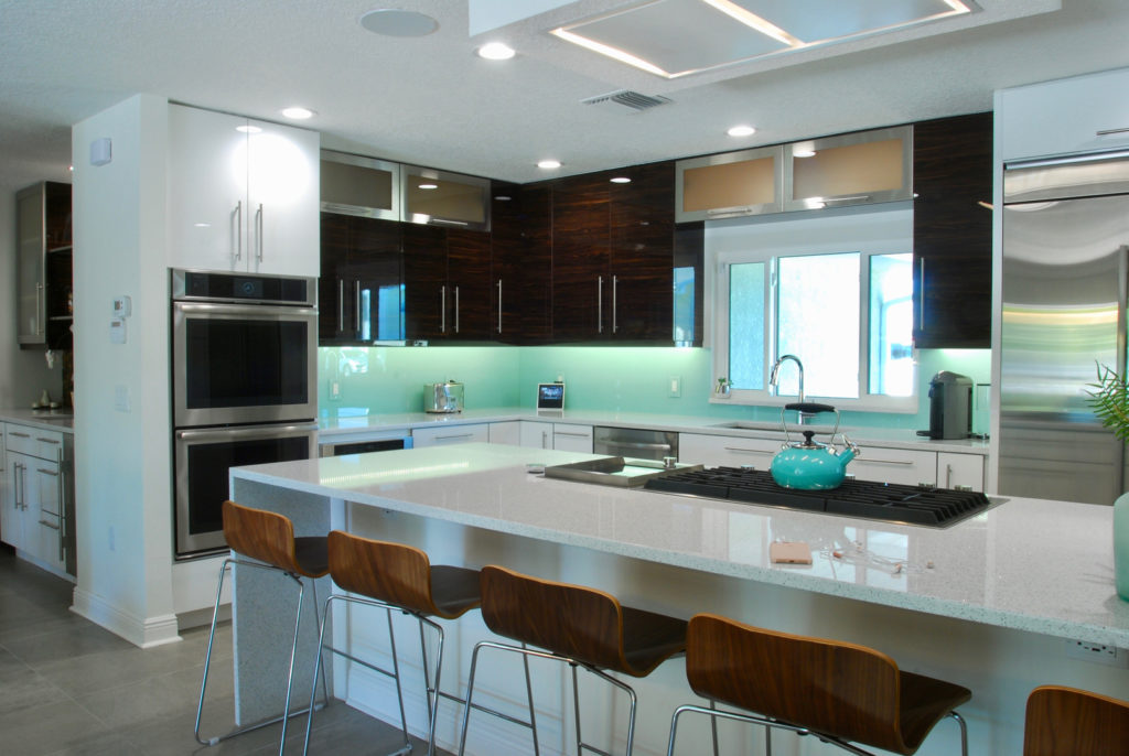 Kitchen after interior design;  Indian river interior design; MGSD