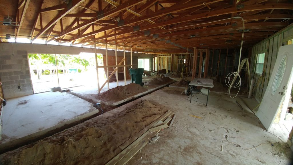 Home under remodel; indian river interior design