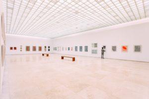 Wide angle shot of art gallery; art interior design; MGSD