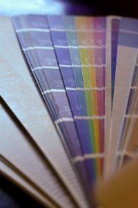 Color swatches for glass backsplash; Michael Gainey Signature Designs