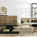 Neutral living room with loveseat and coffee table; MGSD interior decorating tips