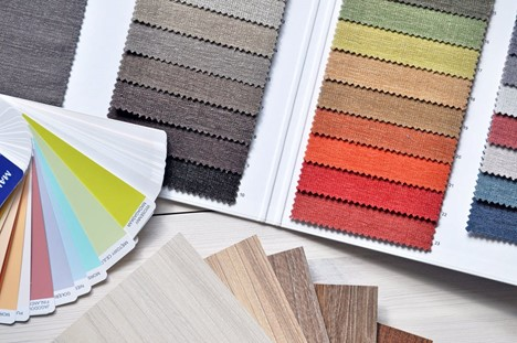 Color Swatches and color wheel; Michael Gainey Interior Design