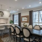 Open concept kitchen with dining room and rug, rugs and interior design, MGSD