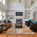 Living room with high ceilings and open layout, interior decorating mistakes, MGSD